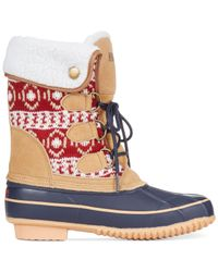 Khombu | Blue Maya Cold Weather Faux-fur Boots | Lyst