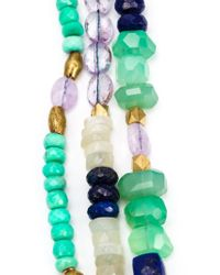 Royal Nomad Jewelry - Green Mixed Stone Beaded Necklace - Lyst