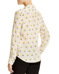 Weekend by Maxmara - Yellow Dondolo Silk Dot Print Blouse - Lyst