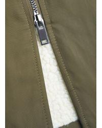 Mango | Natural Zip Textured Jacket | Lyst