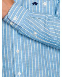 Raging Bull | Blue Stripe Long Sleeve Button Down Shirt for Men | Lyst