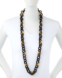 Ashley Pittman - Metallic Jinsi Dark Horn Round Chain Necklace - Lyst