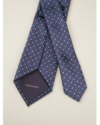 Giorgio Armani   Blue Geometric Motif Silk Tie for Men   Lyst