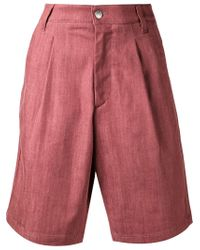 Raf Simons | Red Wide Leg Shorts | Lyst