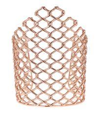 Alexis Bittar | Pink Rose Goldtone Barbed Link Cuff Bracelet | Lyst