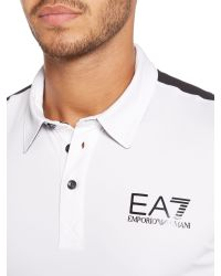 EA7 | White Ventus Tennis Logo Polo Regular Fit Polo Shirt for Men | Lyst