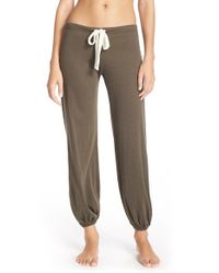 Eberjey | Brown Cropped Knit Lounge Pants | Lyst