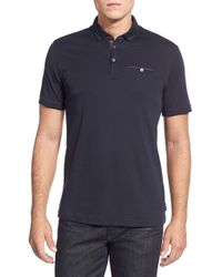 Ted Baker | Black Tempest Jersey Polo Shirt for Men | Lyst