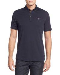 Ted Baker - Black Tempest Jersey Polo Shirt for Men - Lyst