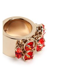 Valentino | Metallic Rhinestone Ring | Lyst