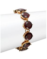 Lauren by Ralph Lauren | Purple Garnet Crystal Bracelet | Lyst