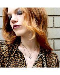 Adornia - Metallic Champagne Diamond Tribeca Necklace - Lyst