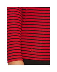 Ralph Lauren - Red Striped Ballet-neck Top - Lyst