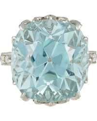 Munnu | Metallic Aquamarine Ring | Lyst