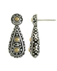 John Hardy | Metallic Dot Teardrop Earrings | Lyst