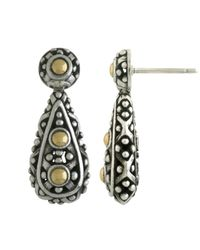 John Hardy - Metallic Dot Teardrop Earrings - Lyst