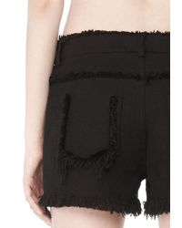 Alexander Wang - Black Exclusive Burlap Jean Shorts - Lyst