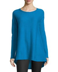 Neiman Marcus - Blue Cashmere High-low Tunic - Lyst