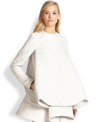 Opening Ceremony - Gray Wavejacquard Capefront Top - Lyst