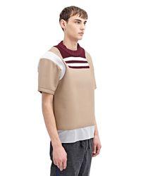 Kolor - Natural Mens High Tech Crew Neck T-Shirt for Men - Lyst