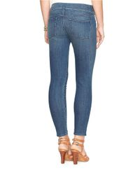 Lauren by Ralph Lauren | Blue Stretch Denim Leggings | Lyst