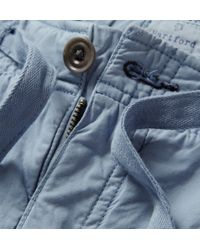 Hartford - Blue Washed Cotton-Twill Shorts for Men - Lyst