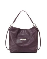 Longchamp - Purple Le Foul Leather Hobo Bag - Lyst