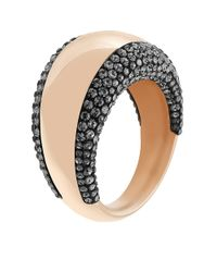 Swarovski - Pink Pebble Rose Goldtone And Crystal Ring - Lyst