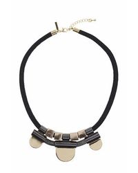 TOPSHOP - Black Mesh Section Cord Necklace - Lyst