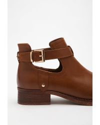 Forever 21 | Brown Buckled Ankle-strap Booties | Lyst