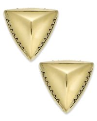 House of Harlow 1960 | Metallic Gold-tone Textured Triangle Post Stud Earrings | Lyst