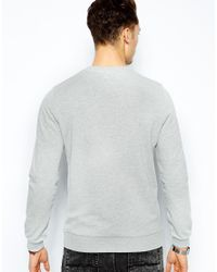 ASOS | Gray Sweatshirt with Embroided Nyc for Men | Lyst