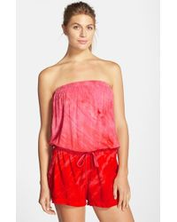 Hard Tail | Pink Tie-Dyed Playsuit | Lyst