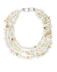 Kenneth Jay Lane | White Multi-strand Beaded Necklace | Lyst
