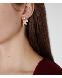 Reiss - White Lissandra Earrings With Crystals From Swarovski - Lyst