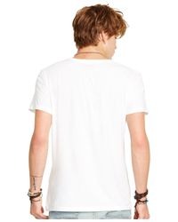 Denim & Supply Ralph Lauren | White Jersey V-neck Pocket T-shirt for Men | Lyst