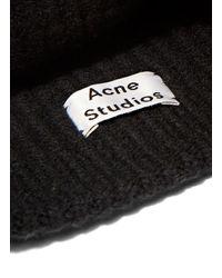 1b3e1083ec6 Acne Studios Canning L Rib Hat in Black - Lyst