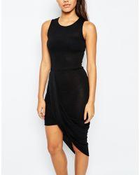 Missguided - Wrap Hem Dress - Black - Lyst