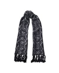 Ralph Lauren | Black Metallic Thread Scarf | Lyst