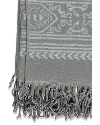 Forever 21 - Gray Fringed Tribal-inspired Shawl - Lyst