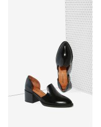 Jeffrey Campbell | Black Appeal Leather Loafer | Lyst
