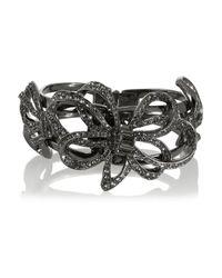 Oscar de la Renta | Metallic Gunmetal-tone Crystal Bracelet | Lyst