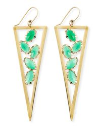 Lana Jewelry - Ultra Envy 14K Gold Green Onyx Spike Earrings - Lyst