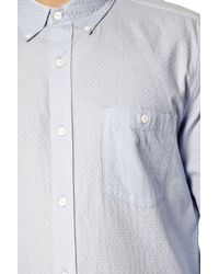 French Connection - Blue Pixel Cotton Dotty Shirt for Men - Lyst