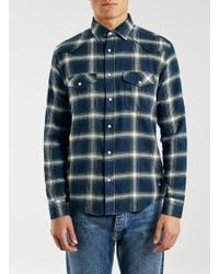 TOPMAN - Only And Sons Blue Shirt for Men - Lyst
