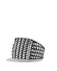 David Yurman | Metallic Maritime Rope Wide Three-Sided Ring for Men | Lyst