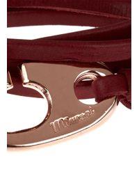 Miansai - Purple Burgundy Leather Wrap Bracelet for Men - Lyst