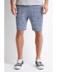 Forever 21 | White Texture-striped Drawstring Shorts for Men | Lyst