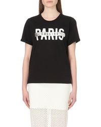 5cm | Black Paris Calling Cotton T-shirt | Lyst