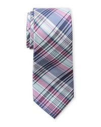 Ben Sherman | Pink Lefty Plaid Silk Tie for Men | Lyst